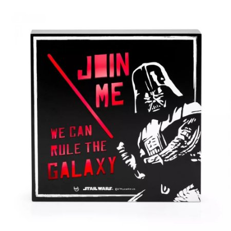Luminária Quadro Star Wars - Darth Vader Join Me