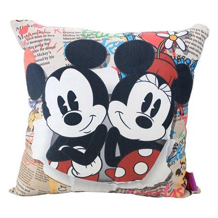Almofada Disney - Mickey e Minnie Jornal
