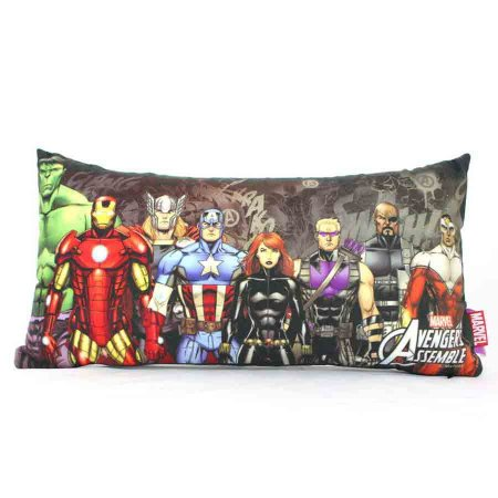 Almofada Fibra Marvel - Avengers Preta