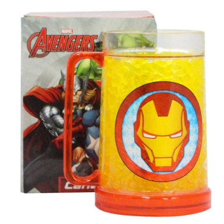 Caneco Congelável 400ml Marvel - Iron Man Armored