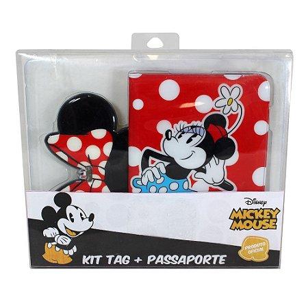 Kit Viagem (Passaporte + Tag) Disney - Minnie