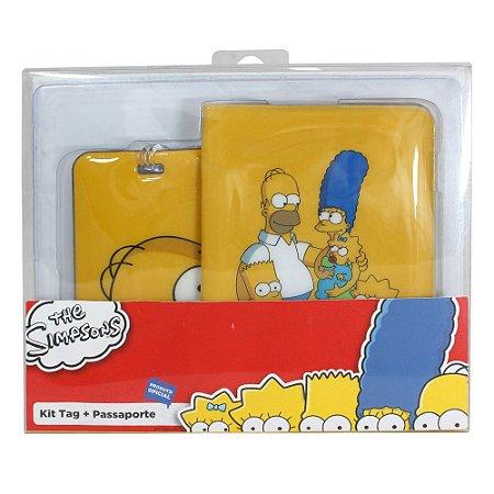 Kit Viagem (Passaporte + Tag) Simpsons - Família