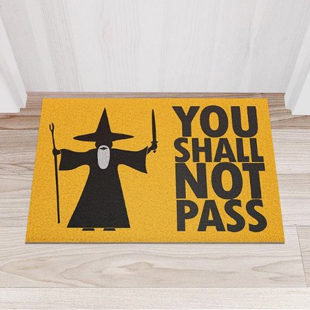 Capacho Vinil You Shall Not Pass