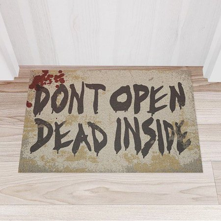 Capacho Vinil Don't Open Dead Inside
