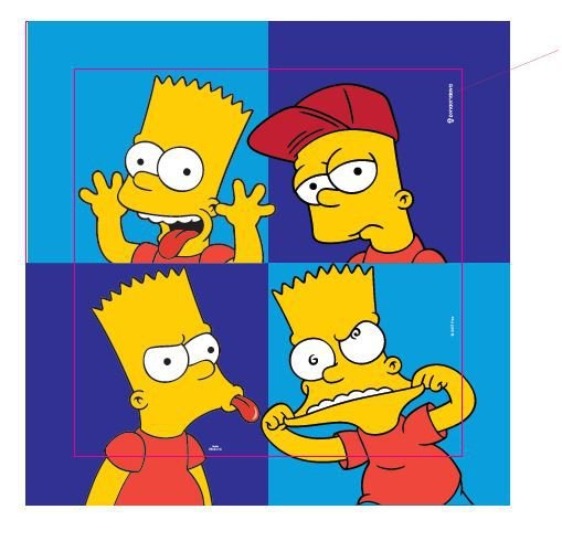 Quadro Canvas Simpsons - Bart Caretas
