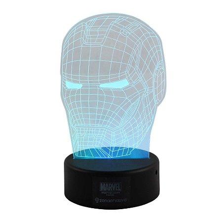 Luminária LED Marvel - Homem de Ferro