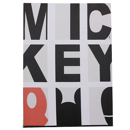 Quadro Canvas Disney - Mickey Tipografia