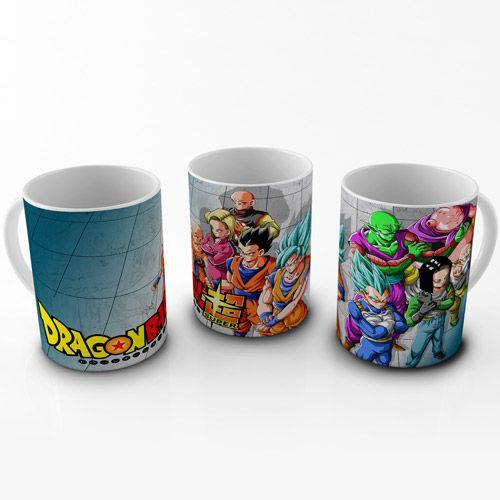Caneca Dragon Ball Super - Heróis