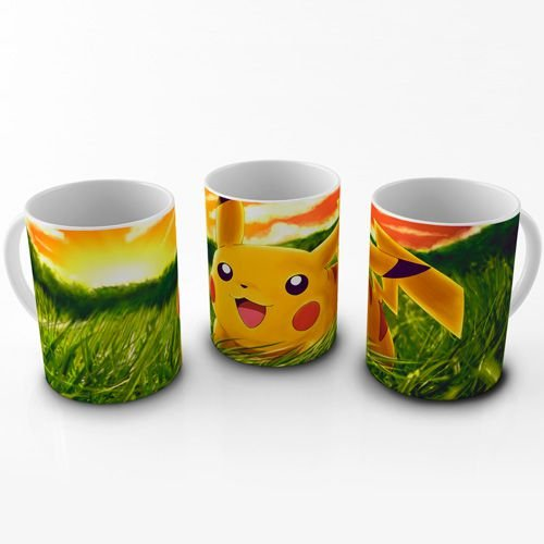 Caneca Pokemon - Pikachu Campo