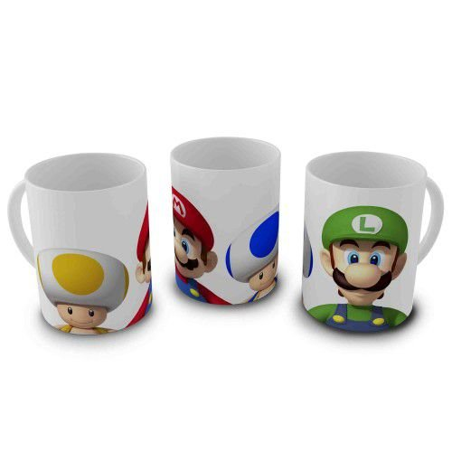 Caneca Super Mario - Mario, Luigi e Toad