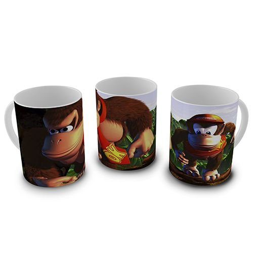 Caneca Donkey Kong & Diddy Kong - Floresta
