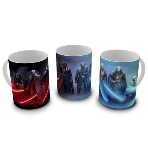 Caneca Star Wars - Jedis e Siths