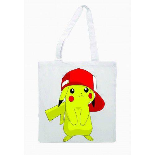 Ecobag Pokemon - Pikachu de boné