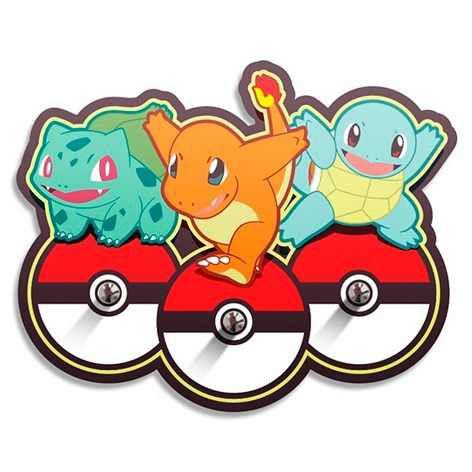 Porta Chaves Pokemon - Iniciais