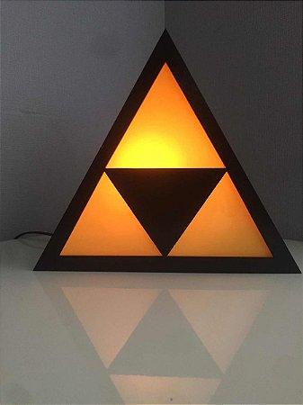 Luminária Zelda - Triforce