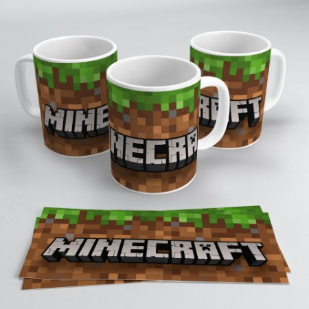 Caneca 300ml Minecraft - Logo