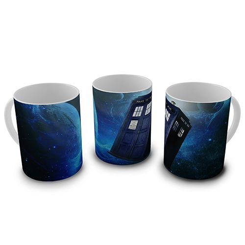Caneca 300ml Doctor Who - Tardis