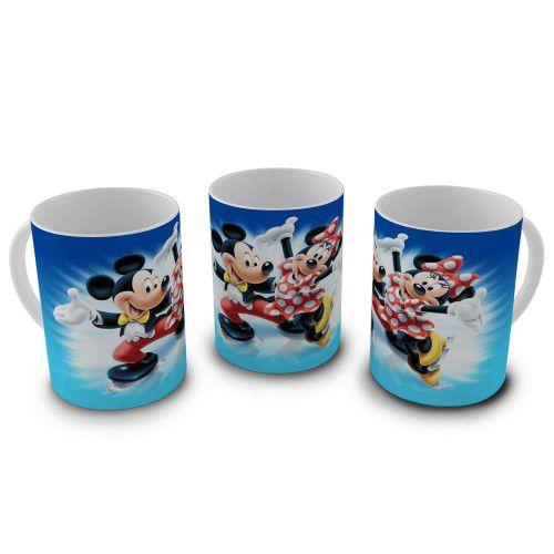Caneca 300ml Disney - Mickey e Minnie Inverno