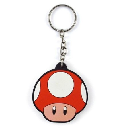 Chaveiro Super Mario - Cogumelo Vermelho