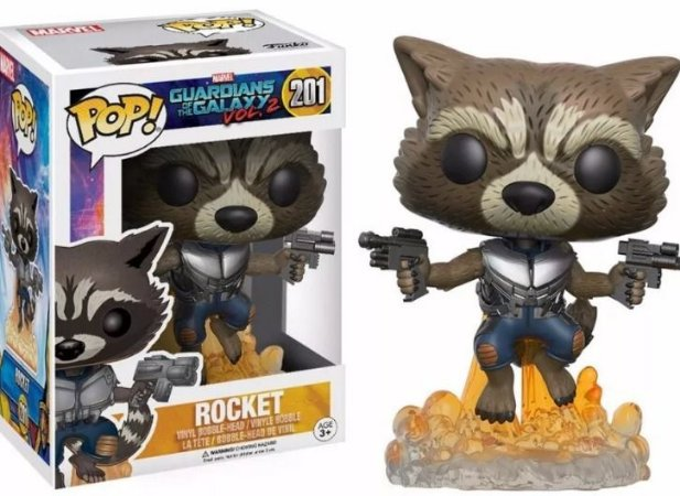 Funko Pop Guardiões da Galaxia - Rocket Raccoon