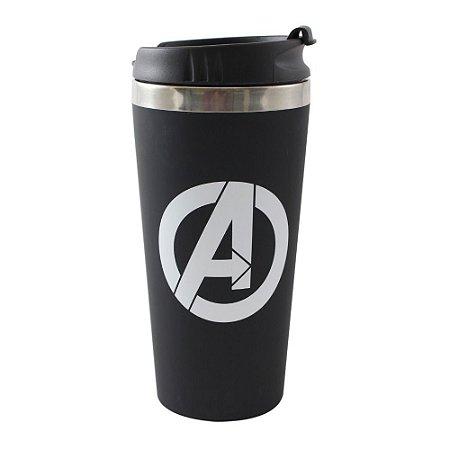 Copo para Viagem Emborrachado 450ml Avengers