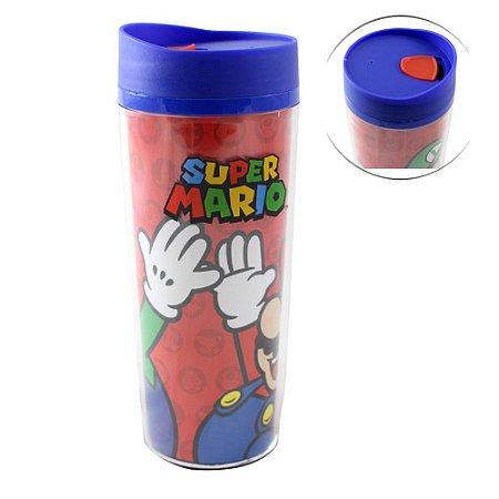 Copo para Viagem 500ml Super Mario - Mario e Luigi