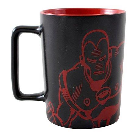 Caneca com Alça Quadrada 500ml Marvel - Homem de Ferro