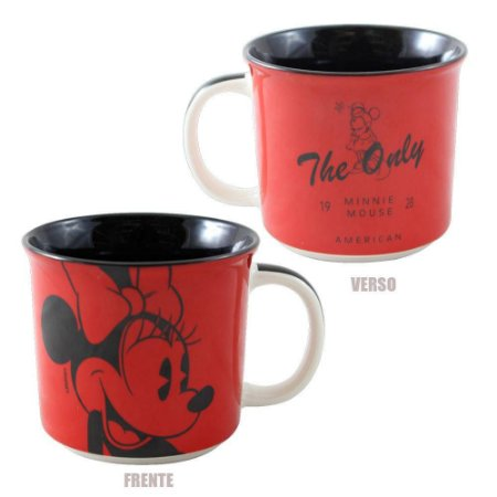 Caneca Tom 350ml Mickey Mouse - Minnie Mouse