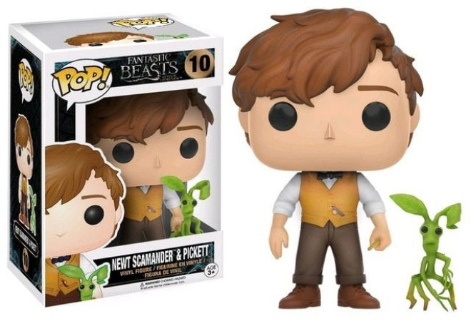 Funko Pop Harry Potter - Newt Scamander e Pickett