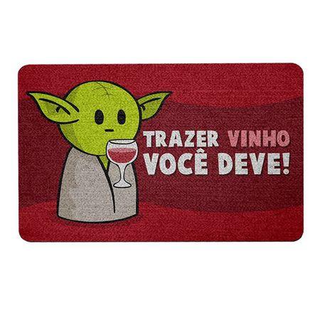 Capacho Ecológico Star Wars - Yoda Trazer Vinho você deve