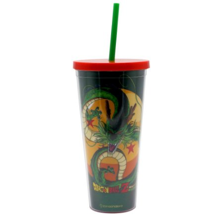Copo com Canudo 650ml Dragon Ball Z - Shenlong