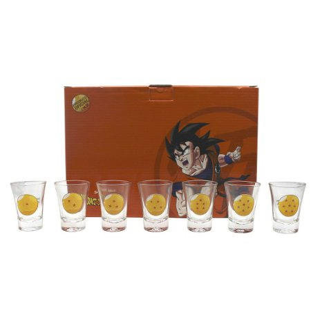 Kit Copos de Shots 60ml Dragon Ball Z - 7 Esferas do Dragão