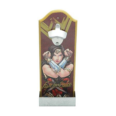 Abridor de Garrafa com Dispenser DC - Mulher Maravilha