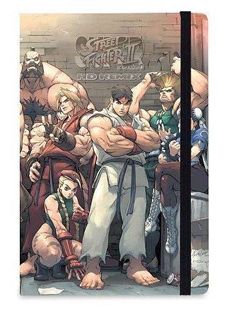 Caderno de Anotações Street Fighter