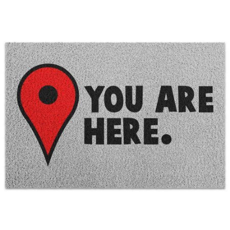 Capacho Vinil You Are Here