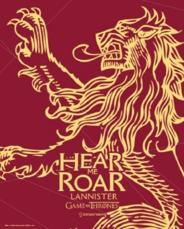 Quadro de Metal 26x19 Lannister - Hear me Roar