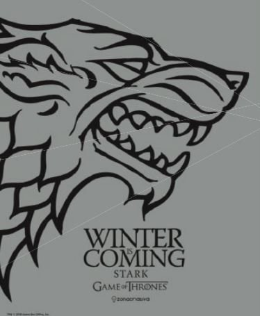 Quadro de Metal 26x19 Stark - Winter is Coming