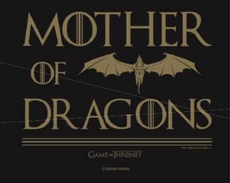 Placa de Metal 26x19 Targaryen - Mother of Dragons