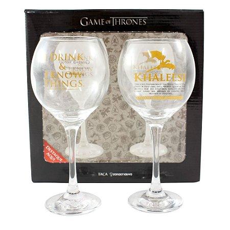 Kit c/ 2 Taças de Vinho 400ml Game of Thrones