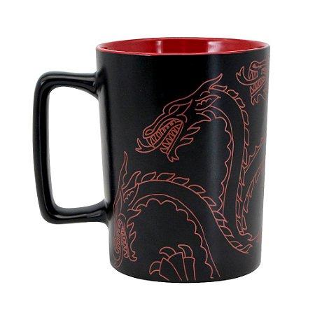 Caneca com Alça Quadrada 500ml Game of Thrones - Targaryen