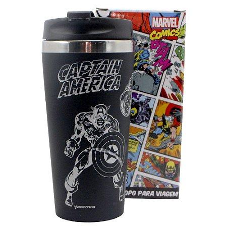 Copo para Viagem Emborrachado 450ml Avengers - Heróis