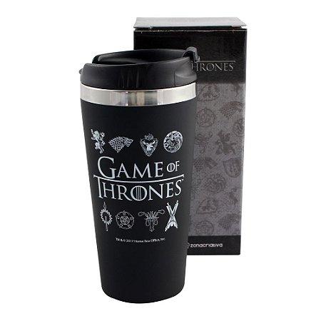 Copo para Viagem Emborrachado 450ml Game of Thrones