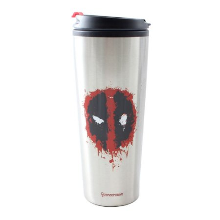 Copo para Viagem Metal 450ml Marvel - Deadpool