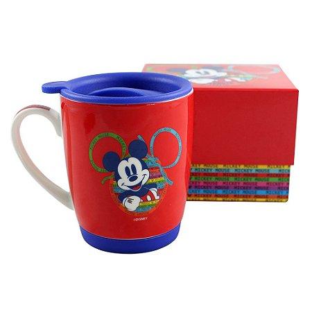 Caneca com Tampa 350ml Disney - Mickey 90 anos