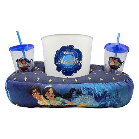 Kit Almofada de Pipoca e Copos Disney - Aladdin