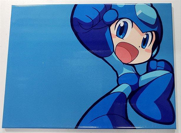 Quadro de Metal 26x19 Mega Man