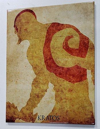 Quadro de Metal 26x19 God of War - Kratos