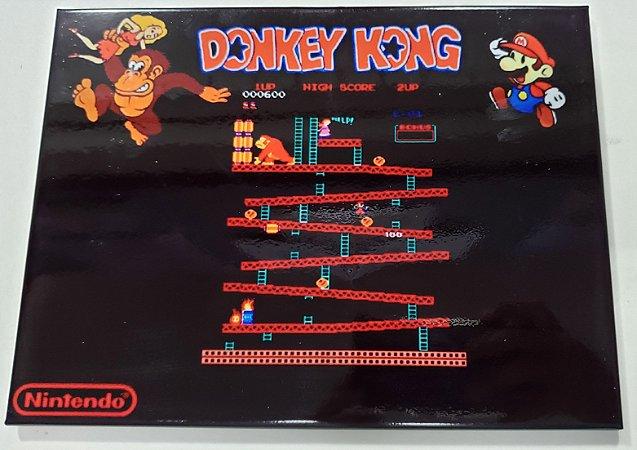 Quadro de Metal 26x19 Doneky Kong - Arcade