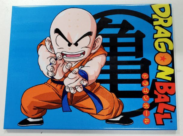 Placa de Metal 26x19 Dragon Ball - Kuririn
