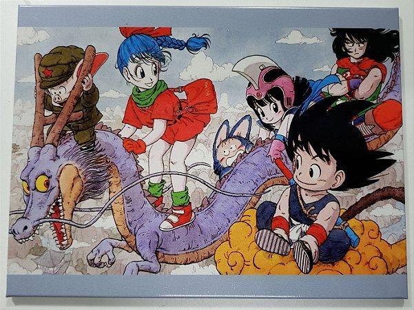 Quadro de Metal 26x19 Dragon Ball - Turma
